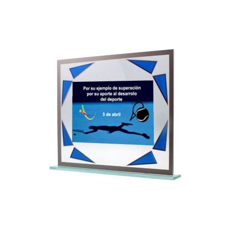 Placa imagen con triángulos azules TPT521404PH
