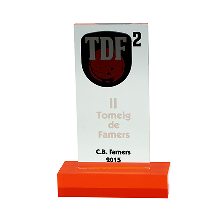 Trofeo básquet metacrilato TB000013