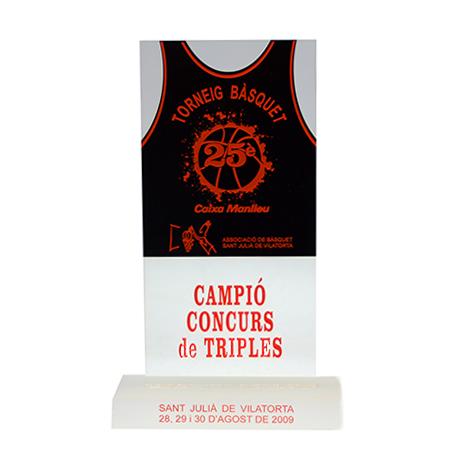 Trofeo básquet metacrilato TB000014