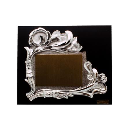 placa diseño clásico metalizado plata TB520013PH